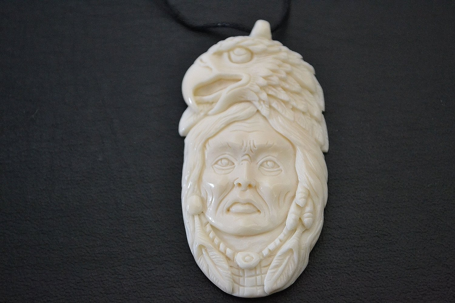 Handcarved Native American Indian Style Eagle shamen Pendant
