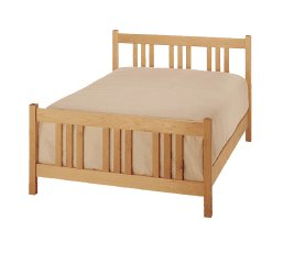 All Natural Solid Maple Arts & Crafts Queen Bed by Pacific Rim - Box Spring Version