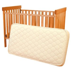 "6"" Organic Crib Innerspring Mattress with Internal Side Supports Great for Toddler or Daybed"