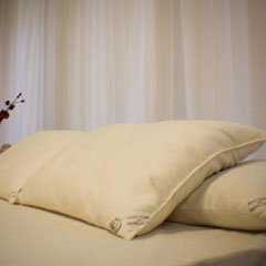 Organic Cotton Standard Vegan Pillow - Medium Fill
