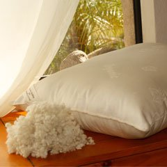 Organic Wool - Woolie Ball Filled King Pillow - Medium Fill
