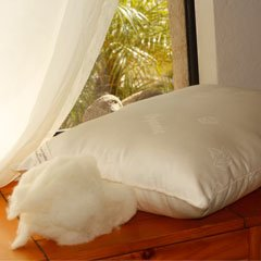 Certified Organic Wool Deluxe Queen Pillow - Heavy Fill