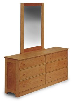 All Natural Solid Maple 6 Drawer Dresser by Pacific Rim - Classic