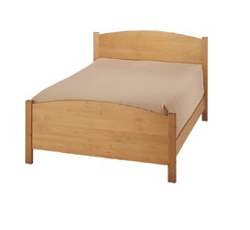 All Natural Solid Maple Classic Queen Bed by Pacific Rim - Box Spring Version
