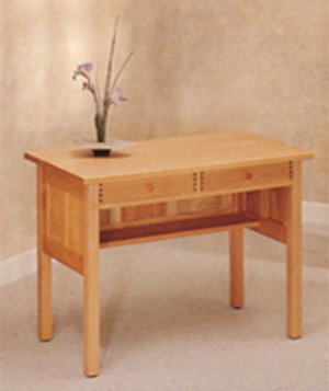 All Natural Solid Maple Writing Desk by Pacific Rim