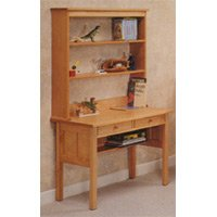 All Natural Solid Maple Writing Desk with Hutch by Pacific Rim