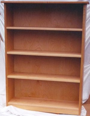 All Natural Solid Maple Bookcase by Pacific Rim
