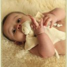 Organic Infant & Baby Soother Toy - Sage Striped