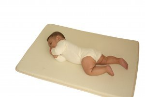 Organic Wool Infant Mattress with 3 inch Natural Rubber Core  (Custom Made Sizes - Large)