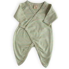 Organic Cotton Snap Kimono for Infants - Multi Stripe