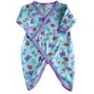 Organic Cotton Snap Kimono for Infants - Kitty Print