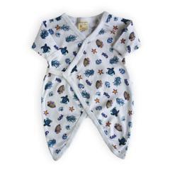 Organic Cotton Snap Kimono for Infants -Under the Sea Print