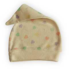 Organic Sherpa Topee Cap for Infants - Hearts