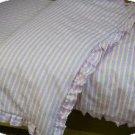 Organic Cotton Flannel Ruffled Crib Comforter Duvet Cover - Pink/Khaki Print