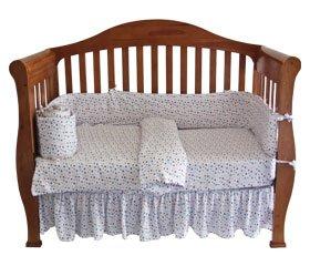 Organic Cotton Knit Crib Comforter Duvet Cover - Stars Print