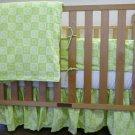 Organic Cotton Crib Comforter Duvet Cover - Dandelion Print