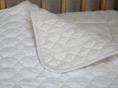 Organic Cotton Quilted Crib Mattress Pad