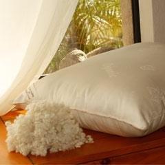 "Organic Wool - Woolie Ball Filled Child Size Pillow 14"" x 20"""