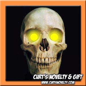 Scary Amber / Yellow LED Halloween Eye Eyes Set Haunted House Prop