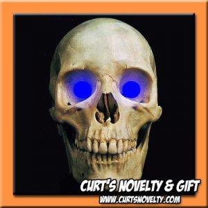 Scary Blue LED Halloween Eye Eyes Set Haunted House Prop