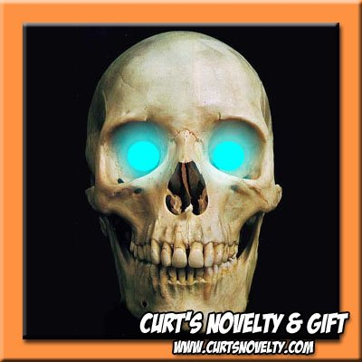 Scary Cyan LED Halloween Eye Eyes Set Haunted House Prop