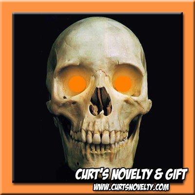 Scary Orange LED Halloween Eye Eyes Set Haunted House Prop