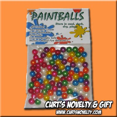 .40 Caliber Assorted Color Paintballs Bag of 100 Great for Blowgun or Slingshot