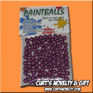 .40 Caliber Purple Paintballs Bag of 100 Great for Blowgun or Slingshot