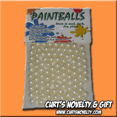 .40 Caliber White Paintballs Bag of 100 Great for Blowgun or Slingshot
