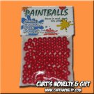 .40 Caliber Red Paintballs Bag of 100 Great for Blowgun or Slingshot