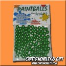 .40 Caliber Green Paintballs Bag of 100 Great for Blowgun or Slingshot