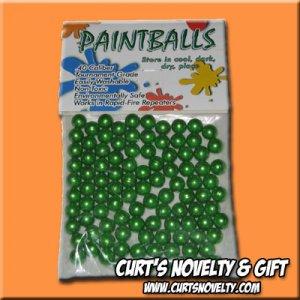 .40 Caliber Green Paintballs Bag of 100 Great for Blowgun or Slingshot