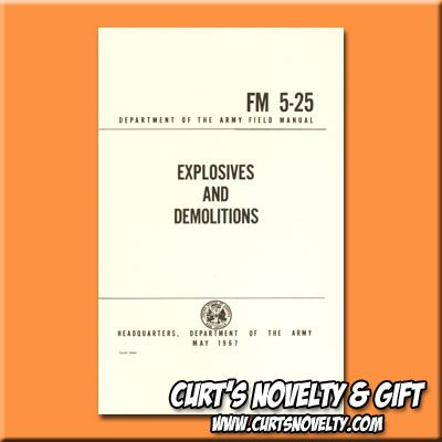 Explosives And Demolitions Army Military Field Manual Training Book