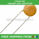 1pF Ceramic Disc Capacitor 50V 5PCS 5-Pack FREE SHIPPING