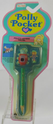 1992 Vintage Polly Pocket Polly's Ladybird Pen Pal Bluebird Toys (38069)