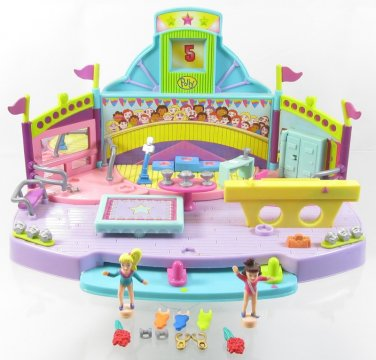 1999 Vintage Polly Pocket Gymfest Floor Exercise Bluebird Toys (39127)
