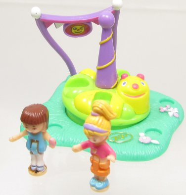 1996 Vintage Polly Pocket RARE Complete Silly Spinner Bluebird Toys (39397)