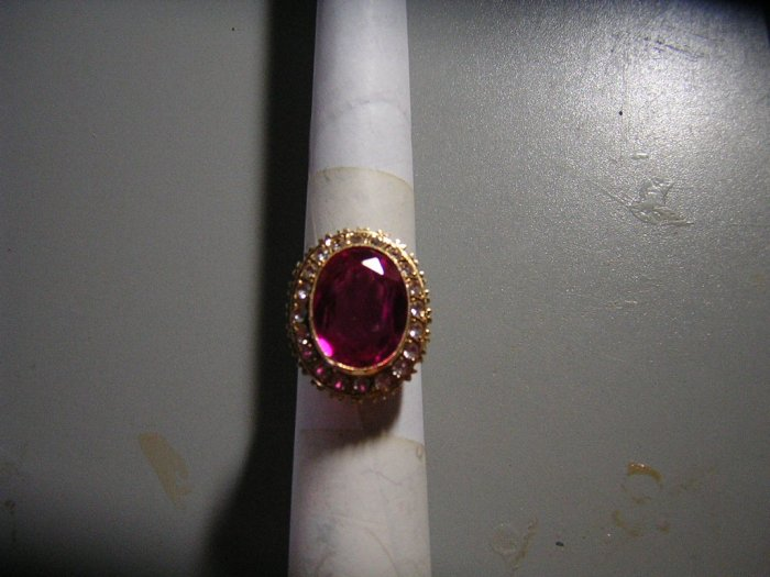 Pink Sapphire with Diamonds