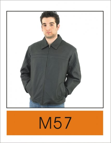 Mens Casual Leather Jacket