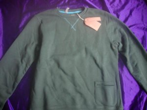TRETORN Klader French Terry Crew /sweater(L)Green MSRP $110!!