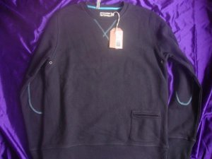 TRETORN Klader French Terry Crew /sweater(m) Blue MSRP $110!!