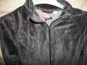 Puma Velour Jacket Blk Sz:L (815539-01)