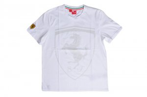 Puma Ferrai T-Shirt MSRP $45 RARE!! Small White