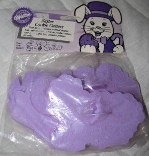 Wilton Easter Cookie Cutters Set of 4 Plastic in Bag Vintage 1988