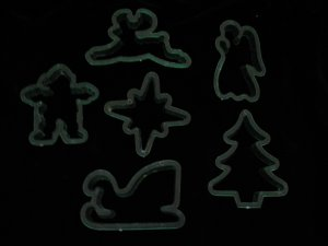 Christmas Holiday Clear Green Cookie Cutter Six Cutters Angel