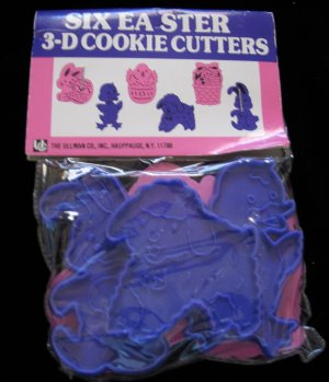 Easter Cookie Cutters Set of 6 Plastic in Bag The Ullman Co