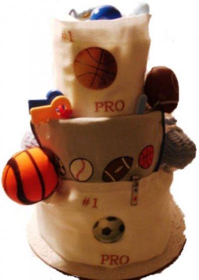 Sports Diaper Cake 3 Tier