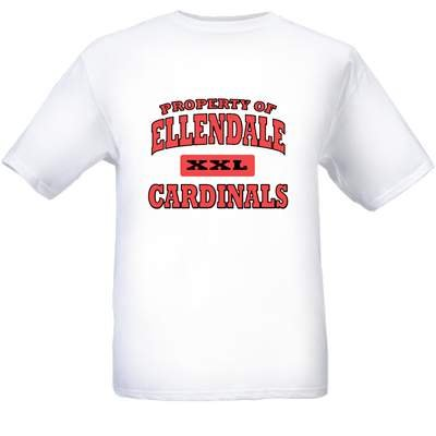 Property of Ellendale Cardinals T-Shirt