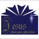 "Jesus, God's Perfect Gift of Love - Postcards 5.47"" x 4.21"""