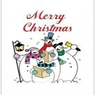 "Merry Christmas Snowmen - Large Postcards 8.50"" x 5.47"""